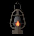 Lantern Gas Lamp vector image