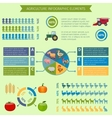 Agriculture infographic elements vector image