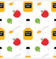 apple cider vinegar seamless pattern background vector image vector image