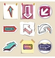 Arrows web icons set Hand drawn and isolated vector image vector image