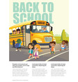 Back To School Safety Flayer depicting School bus vector image