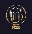 beer neon lights icon vector image