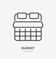 blanket line icon pictograph soft duvet