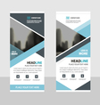 blue business roll up banner flat design template vector image vector image
