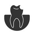 broken tooth glyph icon vector image vector image