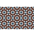 brown and blue moroccan motif tile pattern vector image vector image