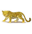 cartoon leopard isolated on white background vector image vector image