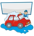 carwash man vector image