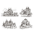 castles medieval buildings for knights czech vector image vector image