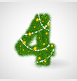 christmas and new year tree abc vector image vector image