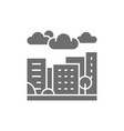 city town and countryside landscape grey icon vector image vector image
