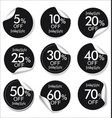 collection of black discount offer price labels vector image vector image