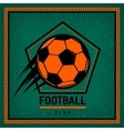 Color vintage and retro logo badge label football vector image vector image
