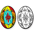 colorful easter egg - coloring book vector image