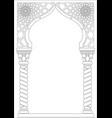 contouring coloring of arabic style arch vector image