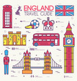 country england travel vacation guide of goods vector image vector image