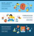 digital neuro linguistic programming vector image