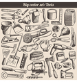 Doodles collection of working tools instruments vector | Price: 3 Credits (USD $3)
