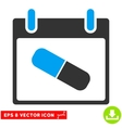 Drugs Pill Calendar Day Eps Icon vector image vector image