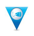 fishing icon map pointer blue vector image