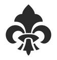 fleur de lis symbol black silhouette icon vector image