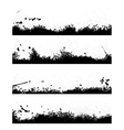 Four black frames blot vector image vector image