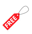 free tag icon white background image vector image