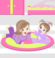 Girl and baby vector image vector image