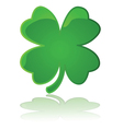 glossy four leaf clover vector image vector image