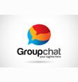 group chat logo template design emblem design vector image