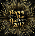 Happy New Year 2017 gold holiday background vector image vector image