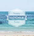 Happy Summer Time Poster vector image