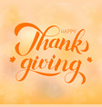 happy thanksgiving day hand written with brush vector image vector image