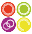 icon set with springs vector image vector image