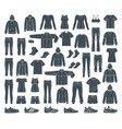 icons of clothes for sports and workouts vector image vector image