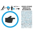 Index Finger Icon with 1000 Medical Business vector image vector image