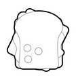 isolated sandwich design vector image vector image