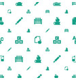 learn icons pattern seamless white background vector image vector image