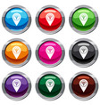 map pin pointer with wi fi symbol set 9 collection vector image vector image