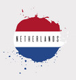 netherlands watercolor national country flag icon vector image vector image