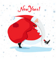 new year card with gifts and santa vector image vector image