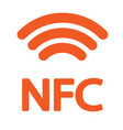 nfc icon orange on a white background vector image