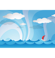 Ocean view with boat vector image vector image