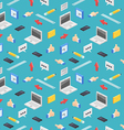 office collection seamless pattern vector image