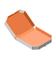 open pizza box icon isometric style vector image
