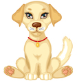 pale puppy vector image vector image
