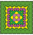 palms border kvadrat 2 380 vector image vector image