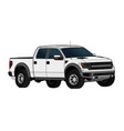 pickup truck template isolated on white vector image vector image