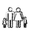 pictogram family icon vector image vector image