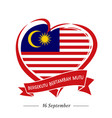 proclamation malaysia emblem vector image vector image